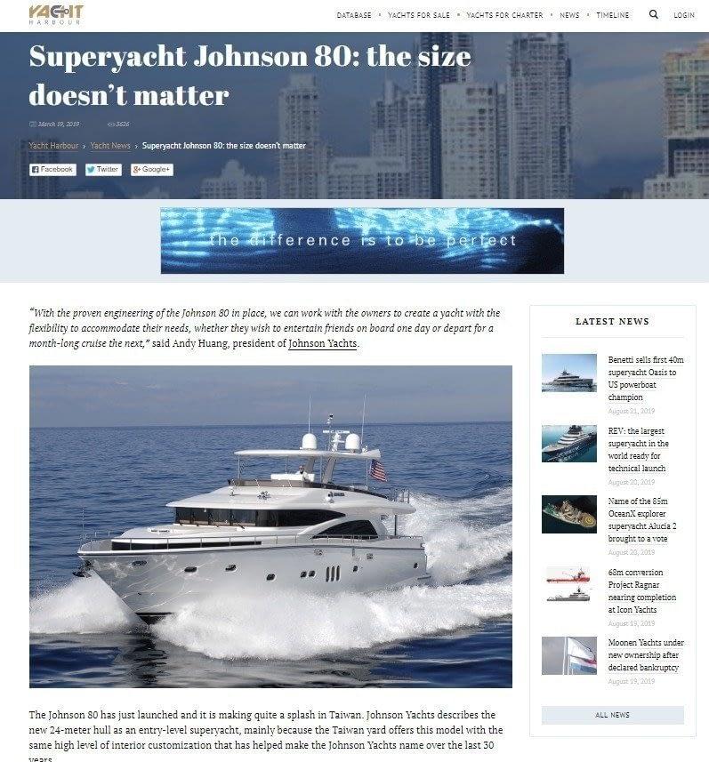 Super Yacht Johnson Size does not matter