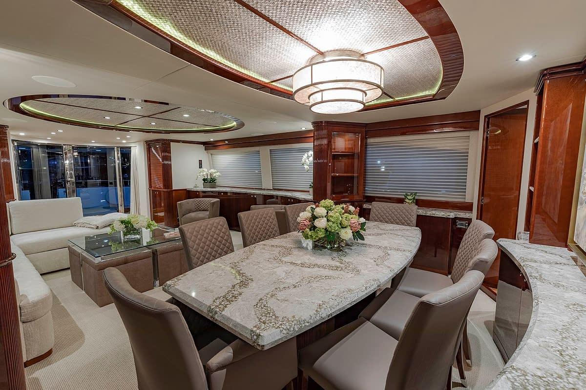 Venetian Dining Area Yacht Design