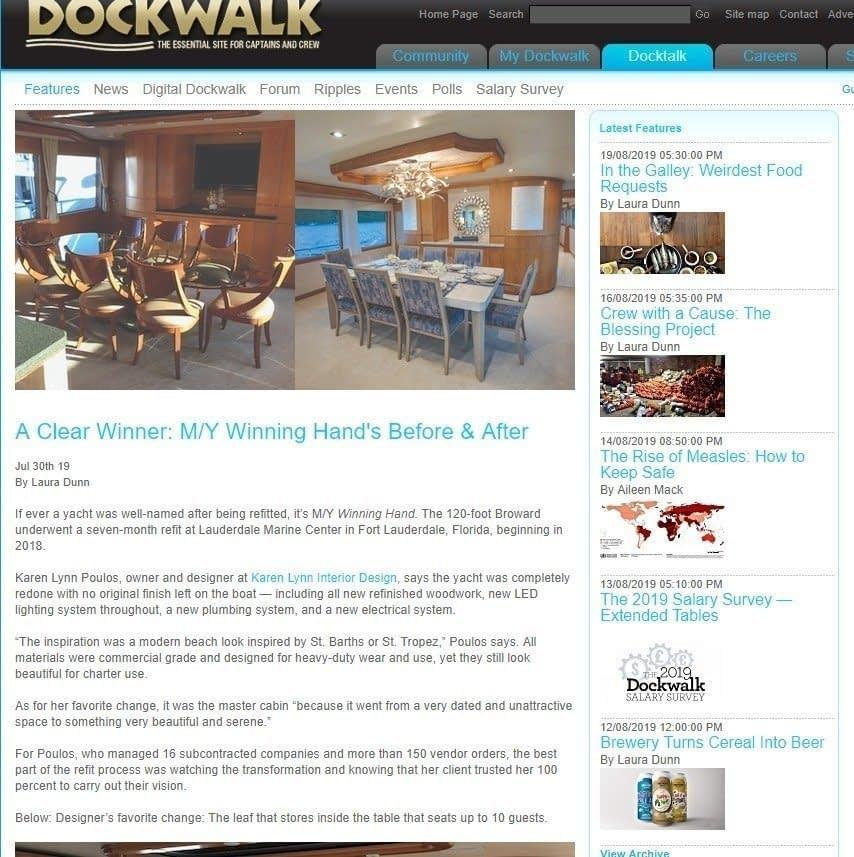 Dockwalk Article about Karen Lynn